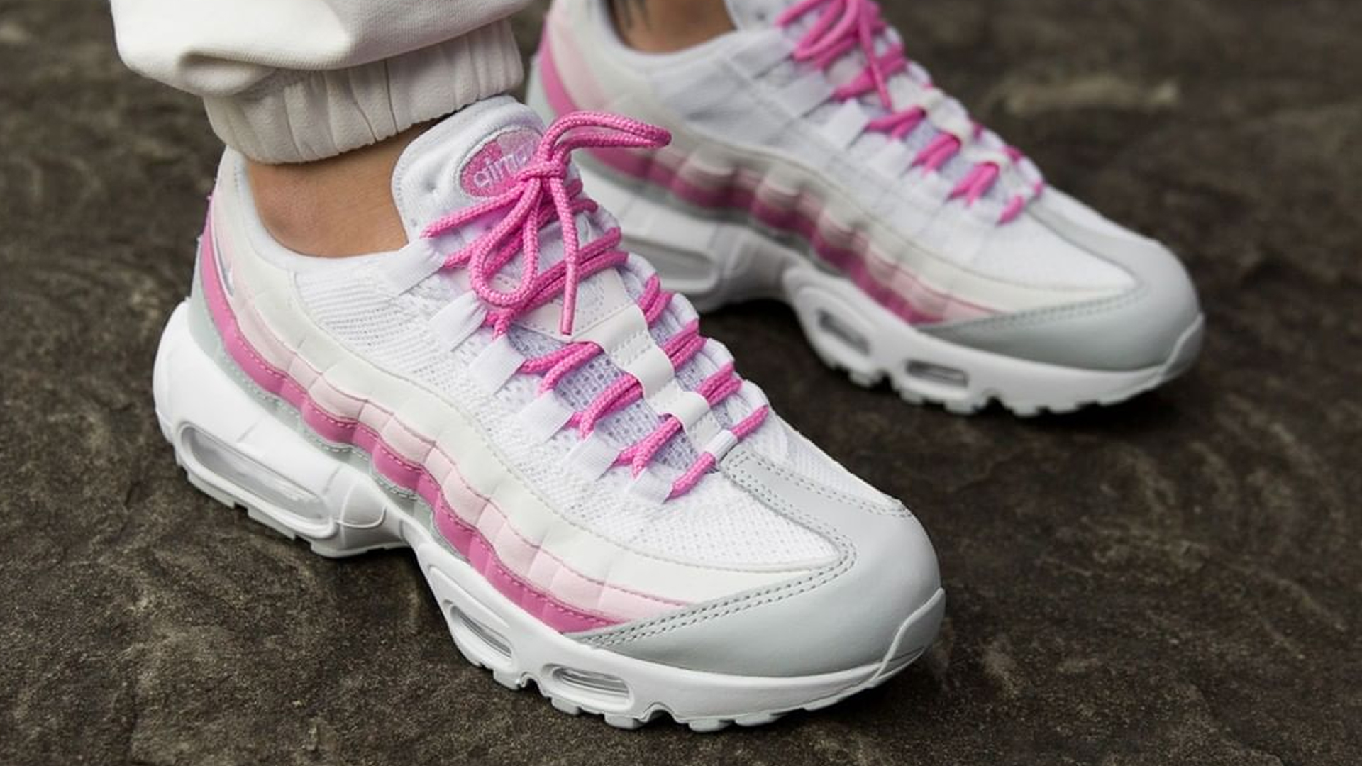newest 6fff0 b32f5 Nike Air Max 95 Essential Psychic Pink White Womens   CD0175-100   The Sole  Womens