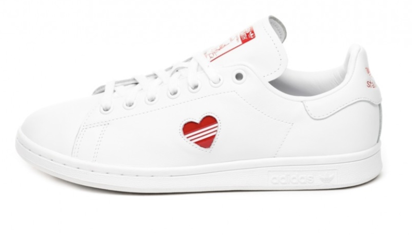 76a9acdc40f9c9 A Tiny 3-Stripe Heart Adorns The Walls Of The adidas Stan Smith ...