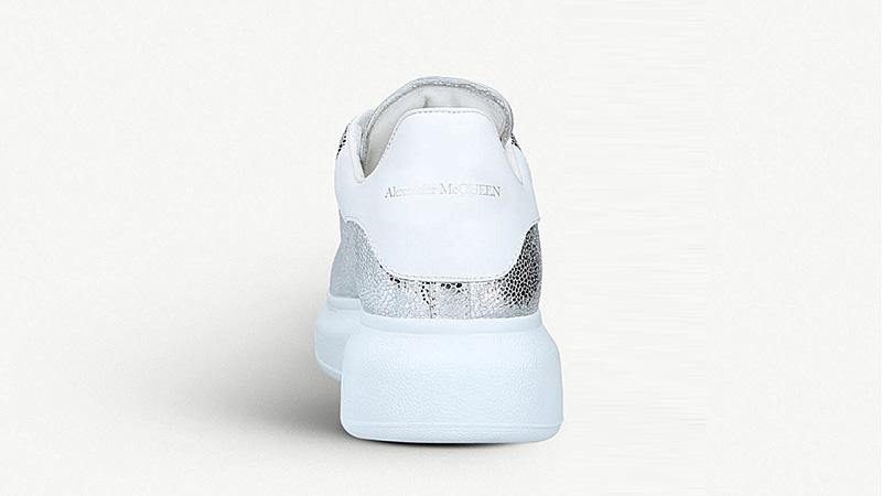 Alexander McQueen Cracked Metallic Silver 01