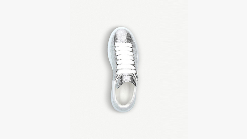 Alexander McQueen Cracked Metallic Silver 02