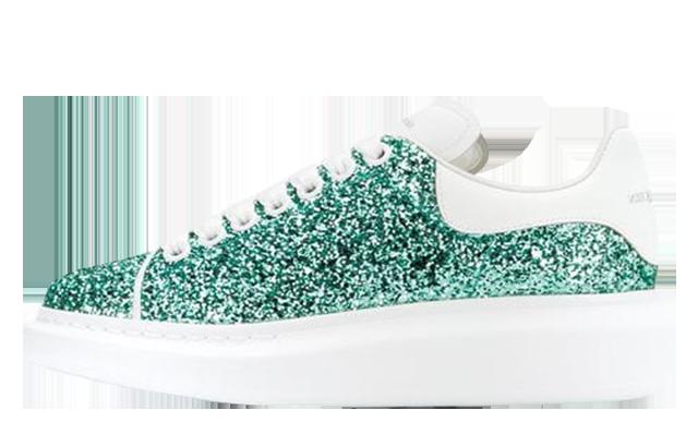 Alexander McQueen Platform Glitter Green