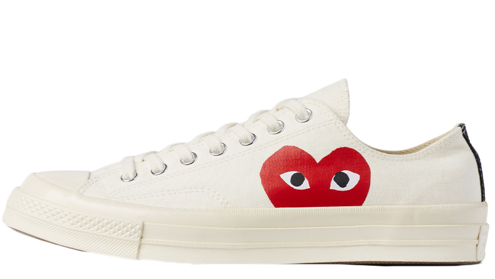 839d5d910d685f Comme des Garcons Play x Converse Chuck Taylor All Star 70 Low White ...