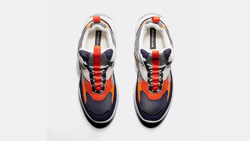 Calvin Klein Jeans Maya Mesh Orange Navy Womens 02