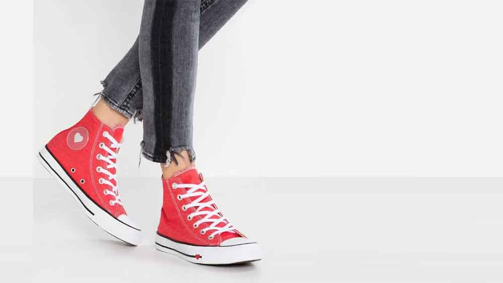 Converse Chuck Taylor All Star Sucker Love Denim High Top Red