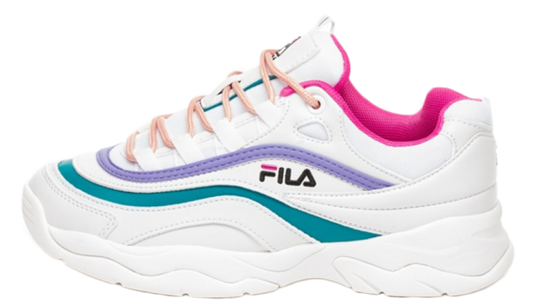 Fila Heritage Ray (White / Very Berry / Caribbean Sea)