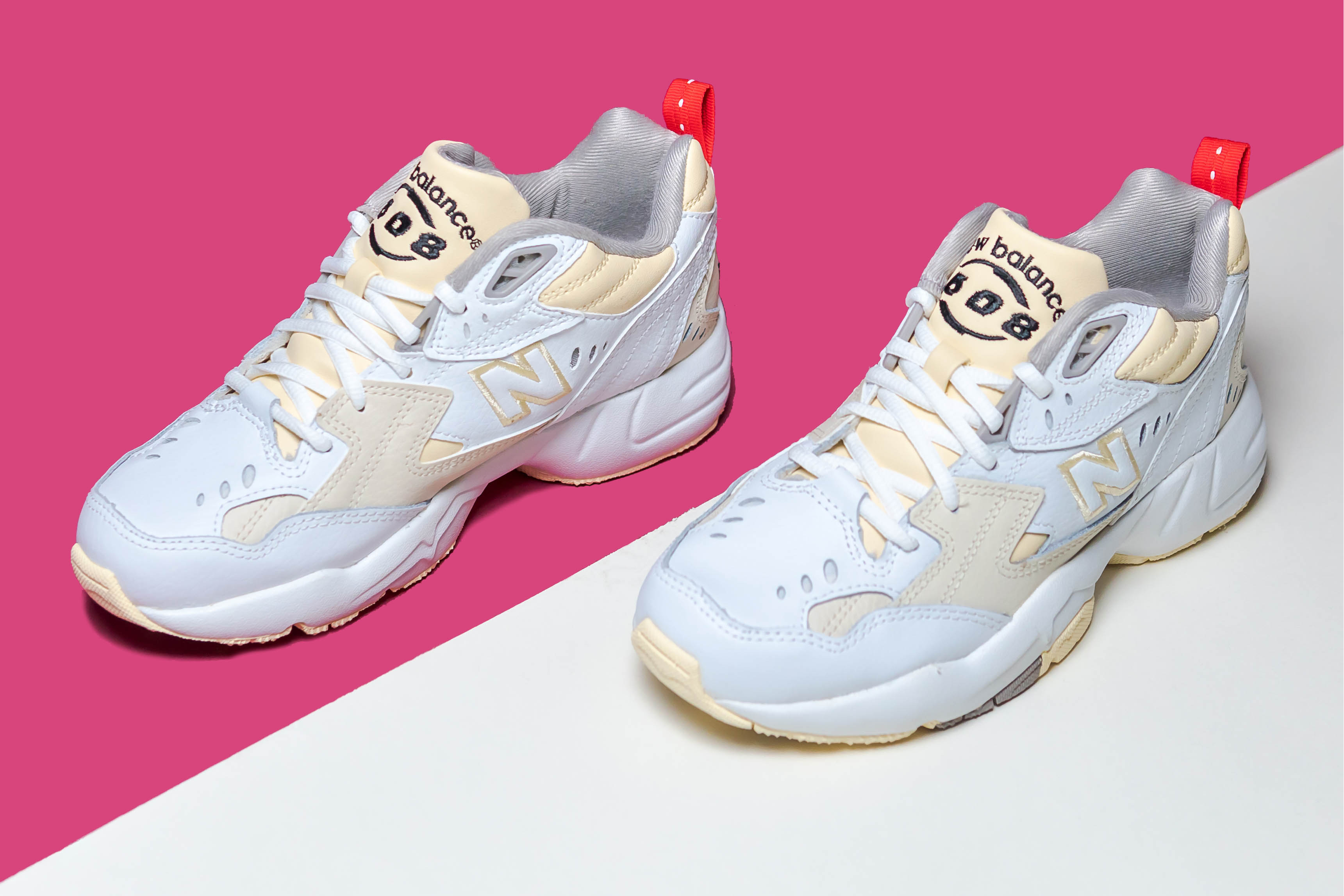 new balance 608 trainers white cream