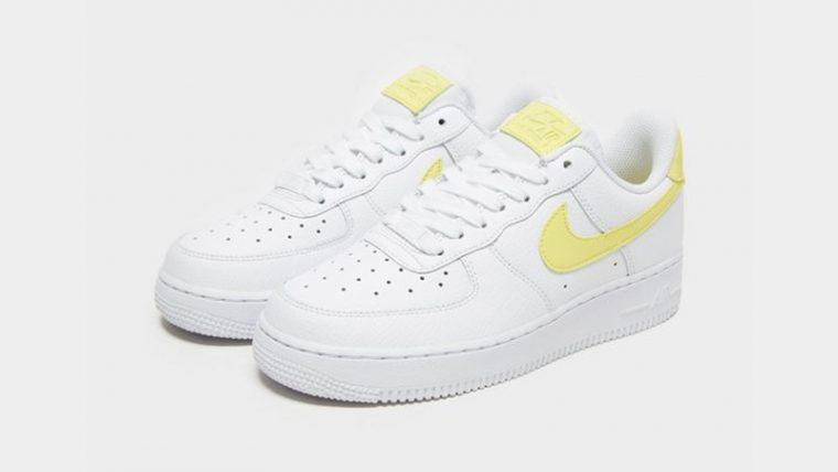 d993ea512e545 Nike Air Force 1 07 LV8 Womens White Yellow 03