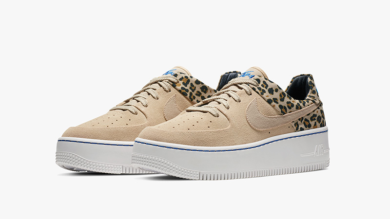 "Ladies Nike Air Force 1 Sage Low Premium ""Leopard"" Shoes"