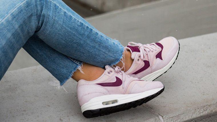 Nike Air Max 1 Premium Pink Womens 454746-604 05 thumbnail image