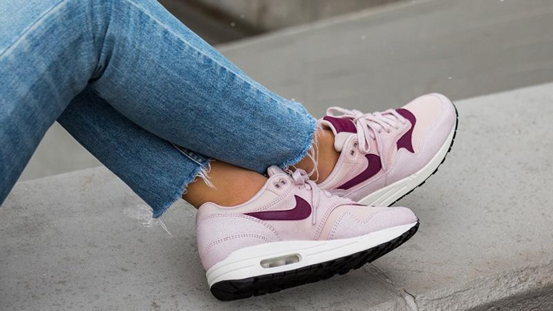 Nike Air Max 1 Premium Pink Womens 454746-604 05
