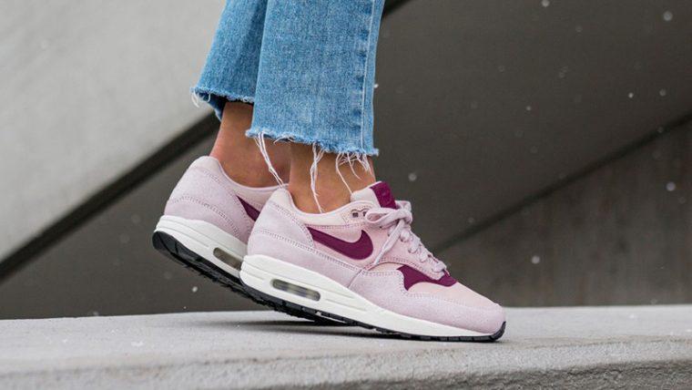 Nike Air Max 1 Premium Pink Womens 454746-604 06 thumbnail image