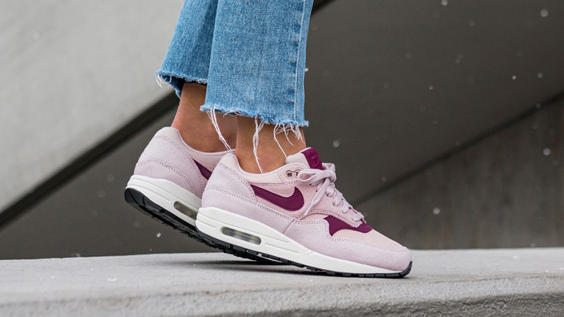 f0618c7541 Nike Air Max 1 Premium Pink Women's | 454746-604 | The Sole Womens