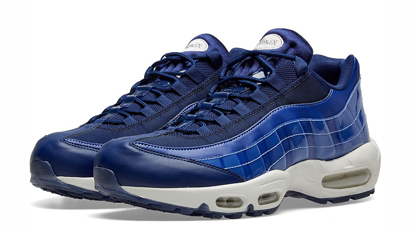factory outlets look good shoes sale large discount Nike Air Max 95 SE Blue White Womens | 918413-401
