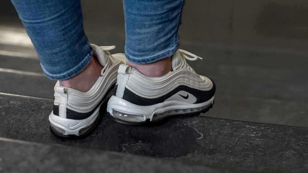 61ccb810a4 Nike Air Max 97 Premium Light Cream | 917646 202 | The Sole Womens