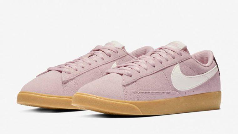 Nike Blazer Low Suede Plum Chalk AV9373-500 03 thumbnail image