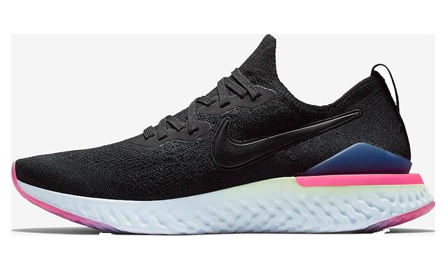 Nike Epic React Flyknit 2 Black Multi Womens BQ8927-003