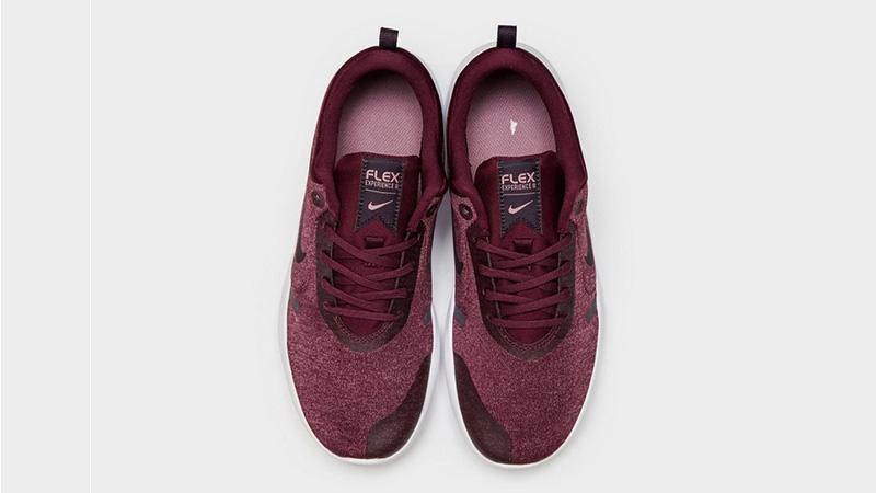wholesale dealer b854d ad4d3 Nike Flex Experience RN 8 Maroon Womens 02