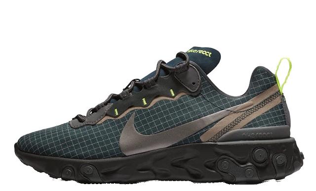 Nike React Element 55 Green Grid   CD1503-400