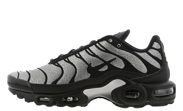 bda31f26b The Nike Tn Air Max Plus Black Glitter is available now via the stockists  listed, head to the links on this page to shop this shining silhouette  today!