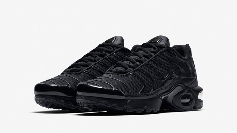 detailed look 34062 82017 Nike TN Air Max Plus Black Kids   655020-009