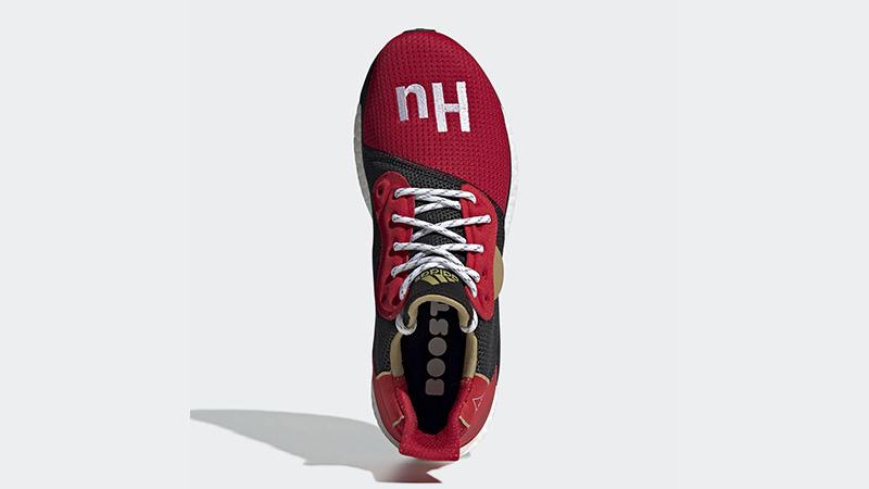 Pharrell x adidas Solar Hu Chinese New Year Red Black EE8701 02