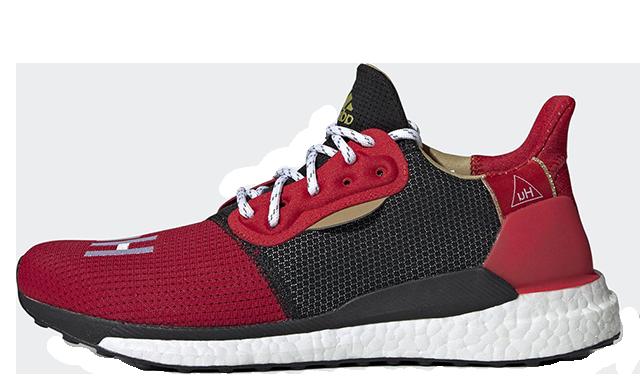 Pharrell x adidas Solar Hu Chinese New Year Red Black EE8701