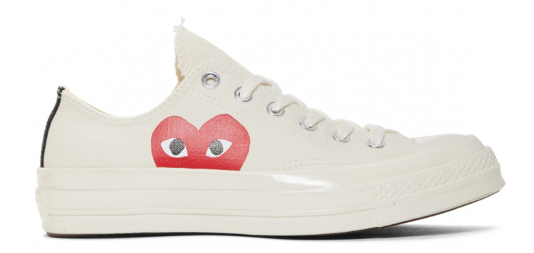 2e211f563508 Comme des Garcons Play x Converse Chuck Taylor All Star 70 Low White ...