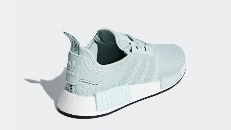 Adidas NMD R1 White mint Green Women