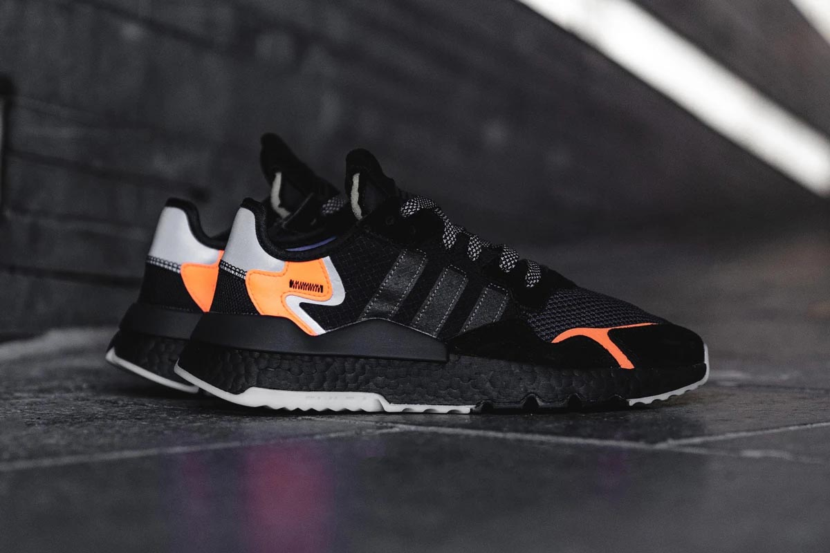 Adidas Nite Jogger Og Black Orange Cg7088 The Sole Womens