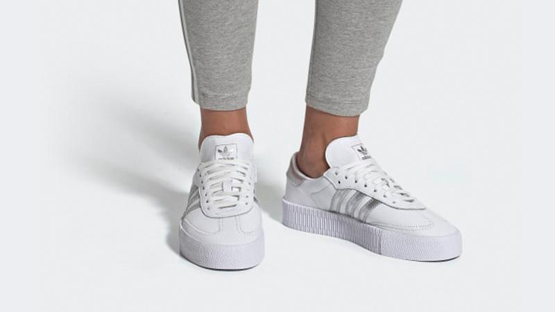 adidas Sambarose White Silver | EE9017