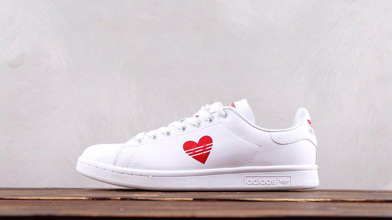 promo code 97c44 f0173 adidas Stan Smith White Red Valentine's Day Pack Womens | G27893