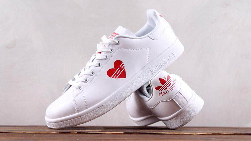 adidas Stan Smith White Red Valentine's