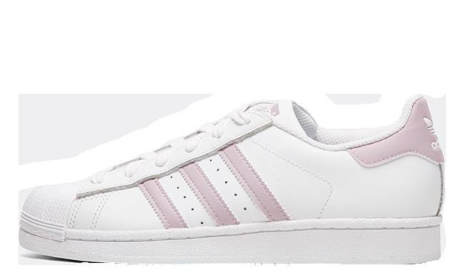 adidas Superstar White Pink Womens