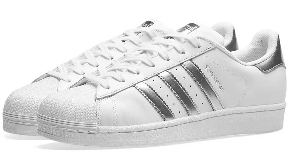 buy popular 54188 6ad89 adidas Superstar White Silver | AQ3091