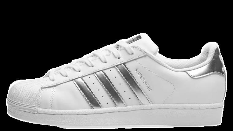 adidas Superstar White Silver