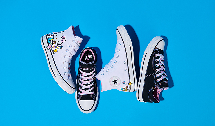Street Style Shows Its Cute Side With Converse x Hello Kitty ... c3be5d280