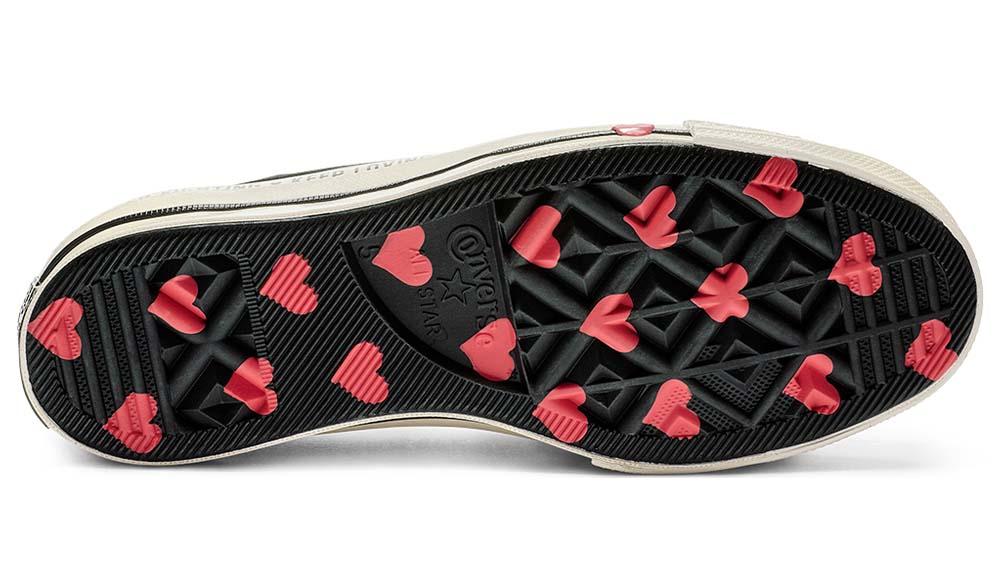 proporcionar un montón de seleccione para oficial compra genuina Converse Chuck Taylor 70 Low 'Valentine's Day' Black | The Sole Womens