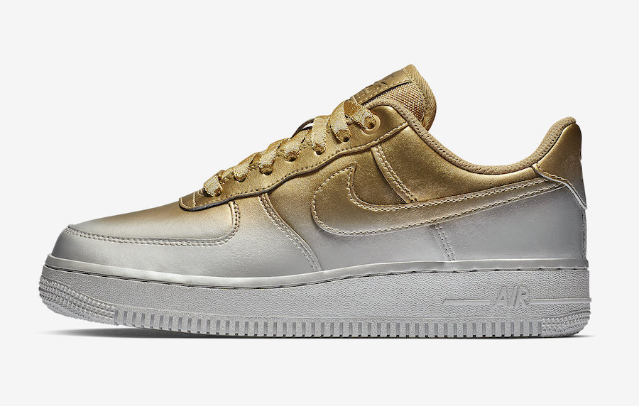 3a39c0db41 Nike's Air Force 1 Gets A Spray Painted Metallic Makeover | Upcoming ...