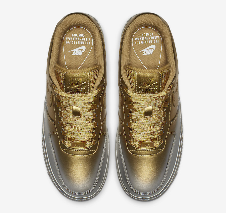 Nike's Air Force 1 Gets A Spray Painted Metallic Makeover