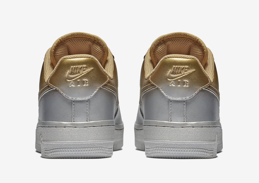 best service 64515 c4c1d Nike s Air Force 1 Gets A Spray Painted Metallic Makeover
