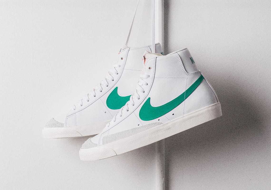 """9f784be661a2 Lucid Green"""" Splashes Over Nike s Blazer Mid Vintage  77"""