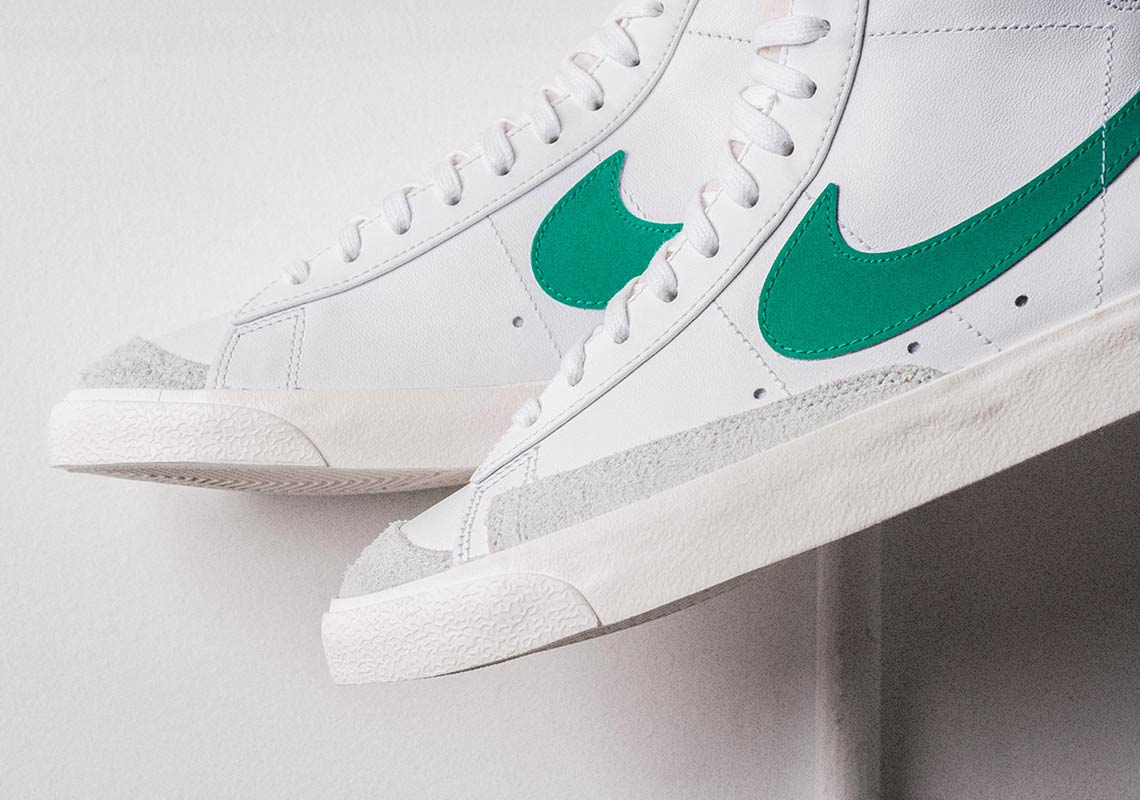 "super popular 2ac10 4aa17 ""Lucid Green"" Splashes Over Nike s Blazer Mid Vintage  77"