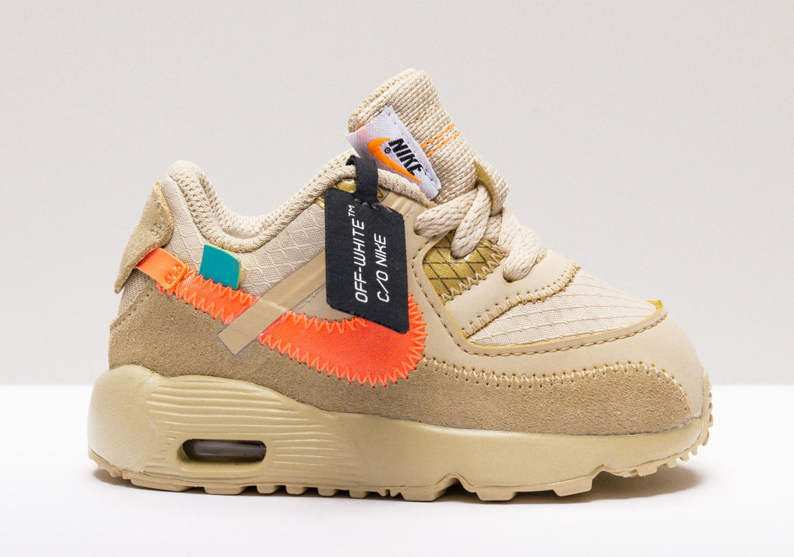 new concept 00e8c 58961 Off-White x Nike's Air Max 90 Will Be Releasing For Junior ...