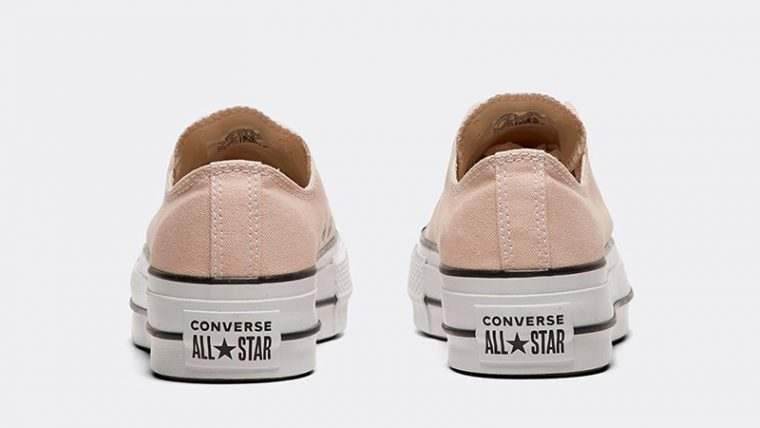 Converse Chuck Taylor All Star Lift Ox Beige White Womens 01
