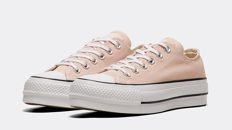 buy online 05386 350e6 Converse Chuck Taylor All Star Lift Ox Beige White Womens 03