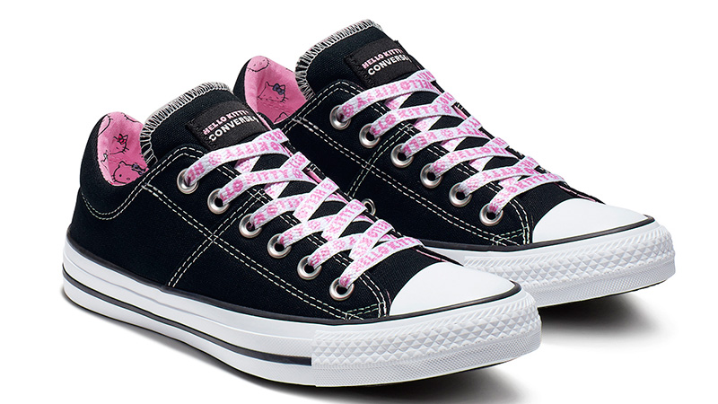 e06539f9637 Converse x Hello Kitty Chuck Taylor All Star Madison Low Top Black Pink 03