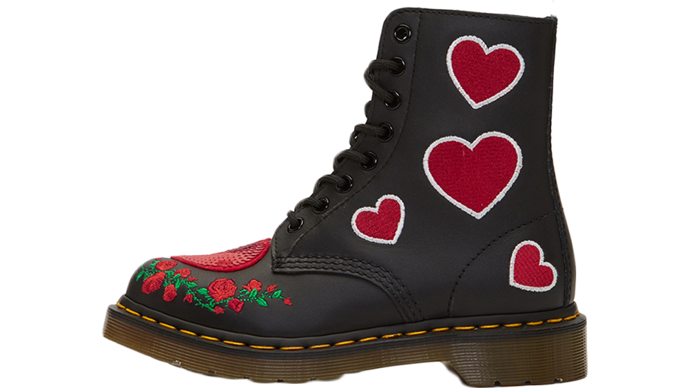 fresh styles half off cheap price Dr Martens 1460 Pascal Hearts Boots Black