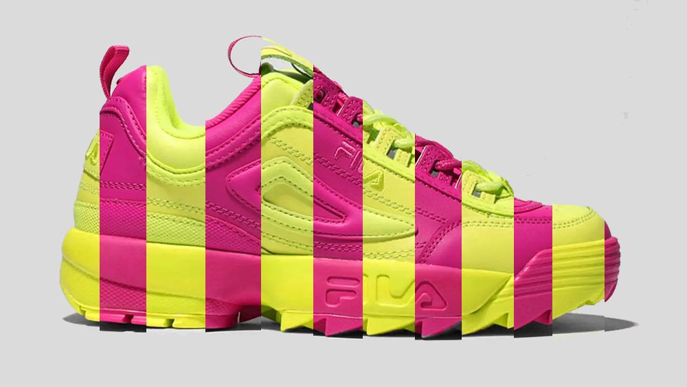 Neon Colour Blocking Transforms The FILA Disruptor