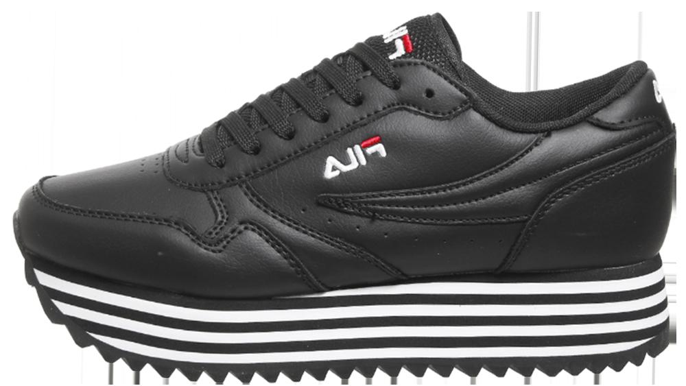 Womens Fila Orbit Zeppa Trainers White Stripe F Trainers Shoes