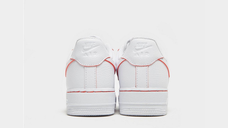 online store b7ea5 6dc5b Nike Air Force 1 07 LV8 White Red Womens